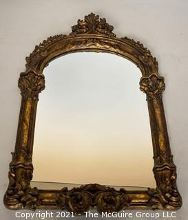 """Wall Mirror with Ornate Gilt Frame.  Measures 18"""" X 29""""."""