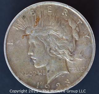 "Numismatic: ""Peace"" Silver Dollar 1923 (#4)"