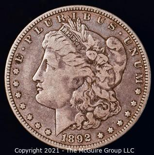 Numismatic: Morgan Silver Dollar 1892-O