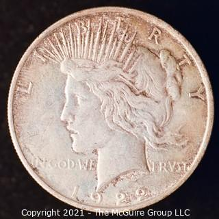 "Numismatic: ""Peace"" Silver Dollar 1923"