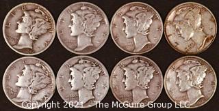 Numismatic: (8) Silver Mercury Dimes