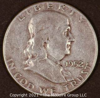 Numismatic: Silver Franklin Half: 1952 (#1)