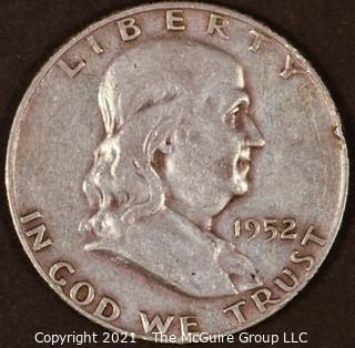 Numismatic: Silver Franklin Half Dollar: 1952 (#2)
