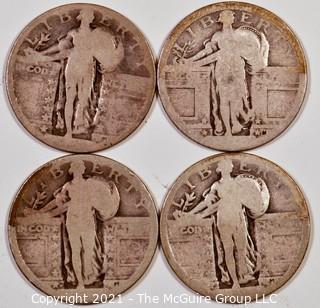 Numismatic: (4) Standing Liberty Quarters