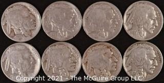 Numismatic:  (8) Buffalo Nickels (1926>1936)