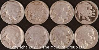 Numismatic: (8) Buffalo Nickels