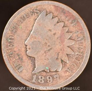 Numismatic:  Indian Head Cent: 1897