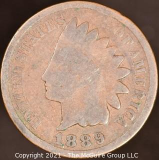 Numismatic:  Indian Head Cent: 1889