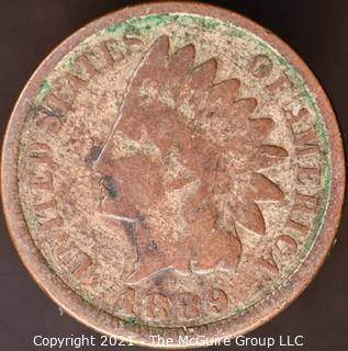 Numismatic:  Indian Head Cent: 1889 (#2)