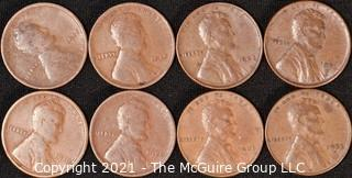 Numismatic:  (8) Lincoln Wheat Cents (1917>1953)
