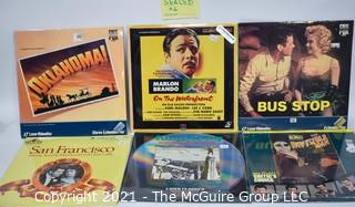 """Collectible: Laser Disc Movies: (6) Classic titles incl """"Bus Stop"""" (still sealed)"""
