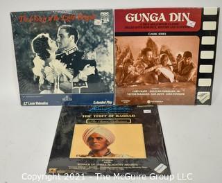 Collectible: Laser Disc Movies: (3) titles (incl Gunga Din)