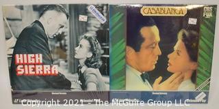 Collectible: Laser Disc Movies: (2) titles (incl Casablanca)