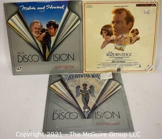Collectible: Laser Disc Movies: (3) titles (incl Heaven Can Wait)