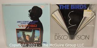 Collectible: Laser Disc Movies: (2) titles (incl The Birds &  Vertigo)