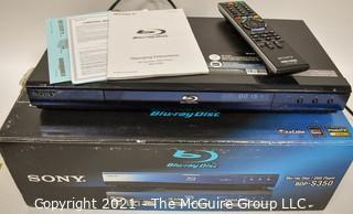 Electronics: Modern: SONY Blu-Ray Disc Player in original box BDP-S350 w/Remote