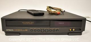 Electronics: Modern: Hitachi M281 VHS Player w/remote