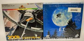 Collectible: Laser Disc Movies: (2) titles (incl 2001 & ET)