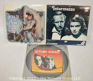 Collectible: Laser Disc Movies: (3) titles (incl Bergman Movies)