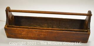 """Carpenters Wooden Tool Box. Measures 30"""" long"""