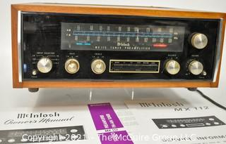 Electronics: Vintage: Stereo Receiver: McIntosh MX-112 Stereo Receiver in Wood Case w/Paperwork