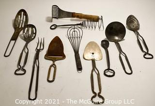 Collection of Vintage Kitchen Utensils
