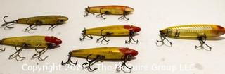 Collection of Vintage Fishing Lures Including L&S MirrOlure 52M11 (x3) M12, M26 & Heddon Zara Spook.