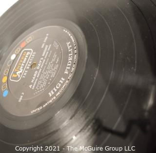 "Vintage Original Press UAL 3366 Mono LP Vinyl Record, ""The Beatles - Hard Days Night""."