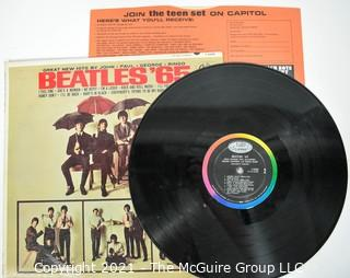 """Vintage Original 1965 Vinyl Record MONO LP with Sleeve and Cover; Beatles """"65"""""""
