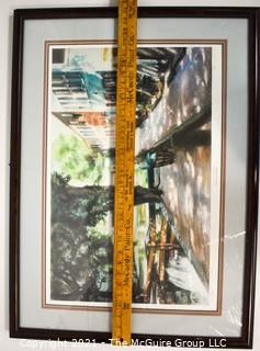 """Framed Art: """"The Canal in Georgetown"""" By George Schofield, signed and numbered print"""