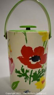 Vintage Vinyl & Plastic Retro Flower Ice Bucket.