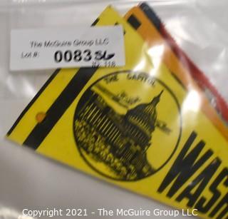 "(5) Vintage Mini Felt Pennants Including World's Fair, 1964.  Measure 7""L."