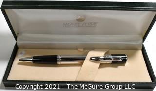 Monteverde Sterling Silver Ballpoint Writing Pen; New in Box.