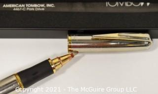 Tombow Gun Metal Rollerball Writing Pen, New in Box