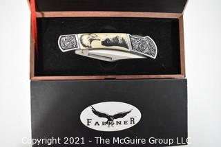 Falkner American Mint Wildlife Collectors Edition, Bald Eagle Folding Knife, New in Box