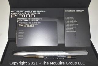 The Porsche Design P3100 Steel & Gold Tecflex 0.7mm Mechanical Pencil; New in Box
