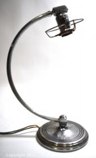 Chase Art Deco Mid Century Chrome Table Lamp.