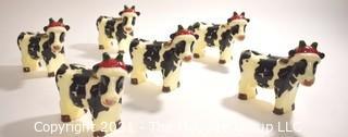 Herd of Six (6) Christmas Cow Candles.  Moo-ry Christmas