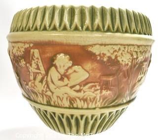 "Greek Inspired Ceramic Garden Planter or Pot.  Measures 10""D x 9""T."