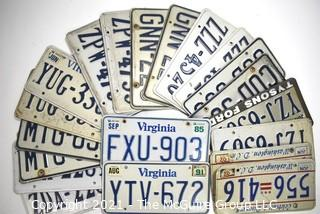 Collection of Modern Virginia and DC License Plates