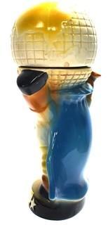 "Vintage Jim Beam Bourbon Ceramic Democratic Donkey Decanter Holding the Globe. Measures 11""T."