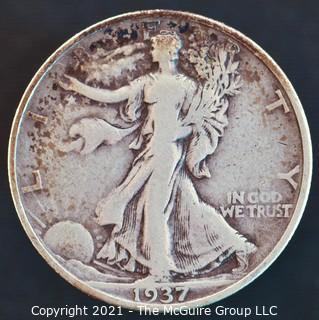 Coins: Walking Liberty Half Dollar: 1937-D