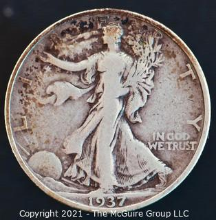 Coins: Walking Liberty Half Dollar: 1937-S