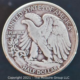 Coins: Silver: Walking Liberty Half Dollar: 1938-P