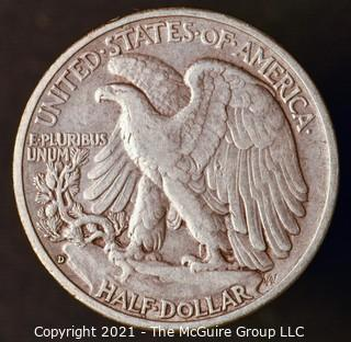 Coins: Silver: Walking Liberty Half Dollar: 1938-D