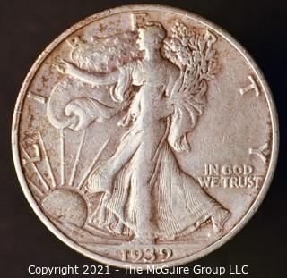 Coins: Silver: Walking Liberty Half Dollar: 1939-S