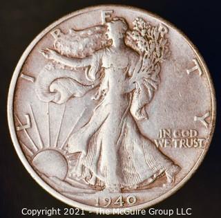 Coins: Silver: Walking Liberty Half Dollar: 1940-S