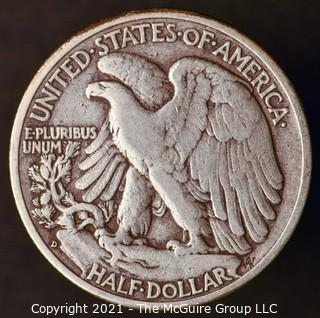 Coins: Silver: Walking Liberty Half Dollar: 1941-D
