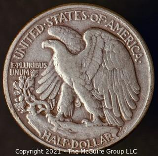 Coins: Silver: Walking Liberty Half Dollar: 1942-P
