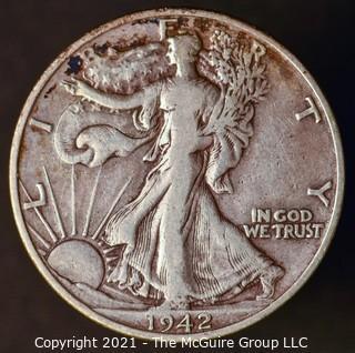 Coins: Silver: Walking Liberty Half Dollar: 1942-D